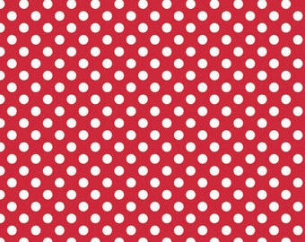 Red Small Dots by Riley Blake Designs, (C350 80) - Polka Dot Fabric - Cut Options Available