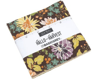 Hallo Harvest Charm Pack by BasicGrey (30600PP) for Moda - Hallo Harvest Precut - Halloween Fabric