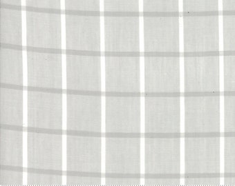 Bonnie and Camille Wovens Gray Windowpane for Moda Fabrics  (12405 27) - Gray Print Fabric - Woven Fabric