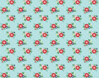 Simple Goodness Aqua Floral by Tasha Noel  (C7934-AQUA)