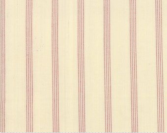 Northport Silky Wovens Ivory Red Stripe by Minick & Simpson for Moda Fabrics  (12215 26) - Patriotic Fabric - Stripe Fabric