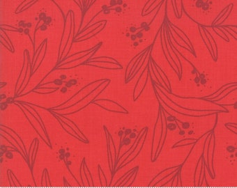 Little Tree by Lella Boutique - Mistletoe - Tonal Cranberry (5092 13) Lella Boutique Little Tree for Moda Fabrics - Christmas Fabric