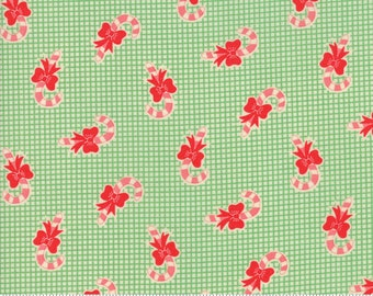 Swell Green Candy Cane by Urban Chiks for Moda Fabrics  (31124 14)  - Christmas Fabric - Cut Options Available!