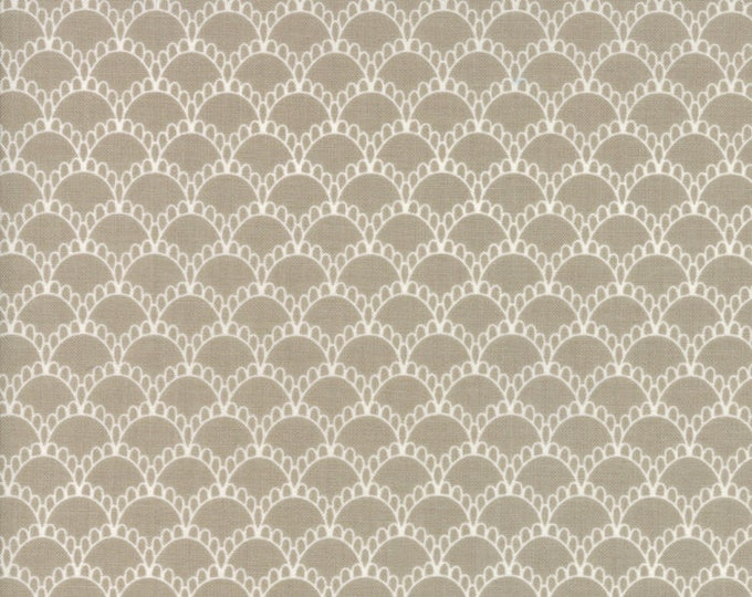 Farmers Daughter (5053 13) Taupe Fancy Scallops by Lella Boutique