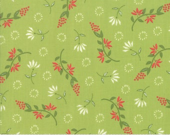 Harper's Garden Lime Wispy by Sherri and Chelsi for Moda Fabrics (37572 13) Cut Options Available