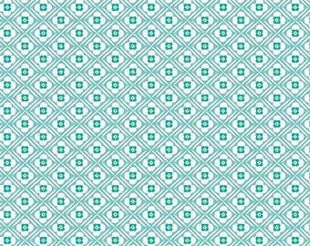Granny Chic Blue Hugs by Lori Holt (Bee in My Bonnet) (C8511 BLUE) - Riley Blake Designs - Lori Holt Granny Chic