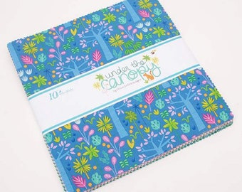 """Under The Canopy 10"""" Stacker by Citrus & Mint Designs for Riley Blake Designs - Layer Cake - Precut Fabric - (10-8660-40)"""