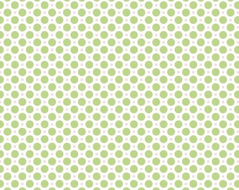 Sew Cherry 2 By Lori Holt SALE  - Circle Green (C5805-Green) - Lori Holt Sew Cherry 2 - CLEARANCE fabric