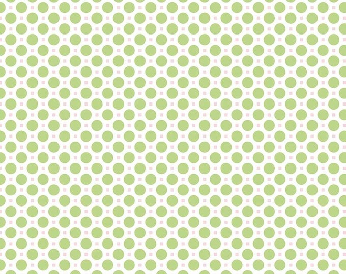 Sew Cherry 2 By Lori Holt Circle Green (C5805-Green)