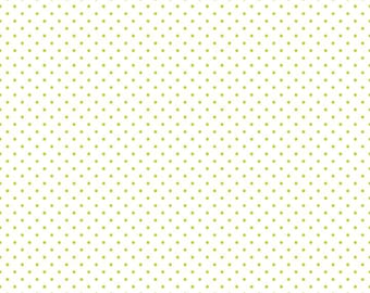 Lime Swiss Dots  on White by Riley Blake Designs  (C660 32) - Cut Options Available