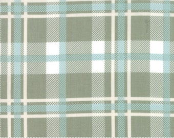 Harvest Road Sage Plaid by Lella Boutique for Moda Fabrics - (5102 14) - Cut Options Available