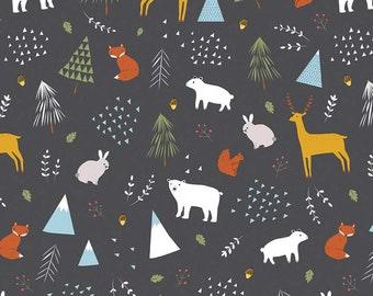In The Forest Gray Main Yardage by Riley Blake Designs (C8950-GRAY) - Cut Options Available