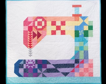 Stitch Happens Quilt Kit Featuring Riley Blake Designs Basics Pattern by Kelli Fannin Quilt Design