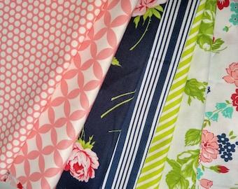 Bonnie and Camille 1/4 Yard Bundle - SALE -( 7) 1/4 yard cuts  - Quarter Yard - Bonnie and Camille fabrics - Cotton Quilting Fabric
