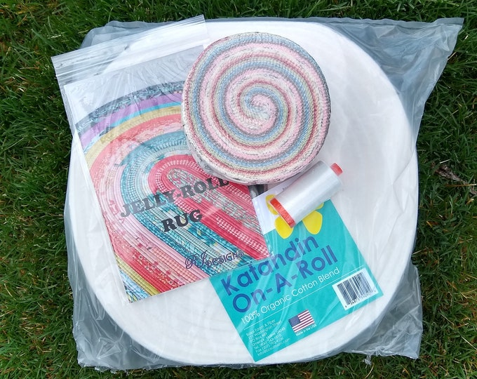 Jelly Roll Rug Kit  - Cottontail Cottage Jelly Roll - Includes pattern, batting, jelly roll and thread