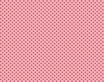 Hello Sweetheart Mini Hearts Pink fabric by Echo Park Paper Co. for Riley Blake Designs (C7624-PINK)