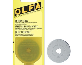 Olfa 45MM Rotary Cutter Blade Replacement - RB45-1 45MM Blade For RTY-2/G 9452 Olfa