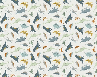 Fossil Rim 2 Cream Tiny Dino by Deena Rutter for Riley Blake Designs (C8872-CREAM) - Dinosaur Fabric - Cut Options Available
