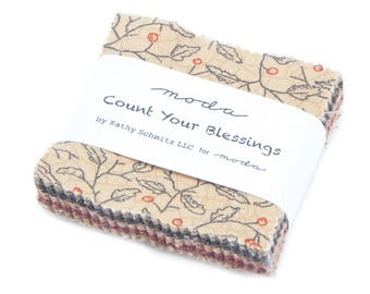 Count Your Blessings  by Kathy Schmitz - Mini Charm Pack (6080MC)