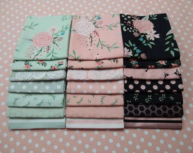 Bliss Fat Quarter Bundle (21 pieces) by My Mind's Eye. for Riley Blake Designs (FQ-8160-21)