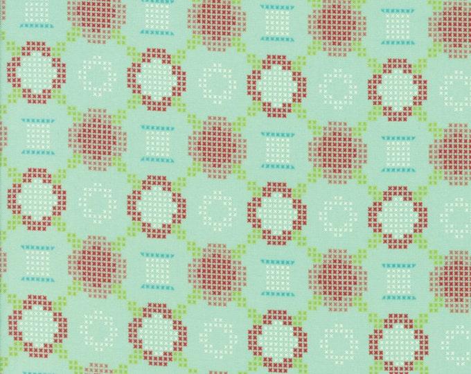 Handmade (55144 12) Aqua Cross Stitch Bonnie & Camille