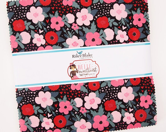 Hello Sweetheart Layer Cake (42 pieces) by Echo Park Paper Co. for Riley Blake Designs (10-7620-42)