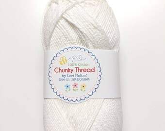 Chunky Thread - Cloud - 50 g Skein Chunky Thread  - Crochet Thread, Knitting Thread, Crafting Thread - By Lori Holt