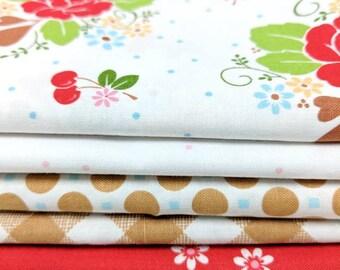 Sew Cherry 2 by Lori Holt 1/2 yd bundle - 5 half yd cuts