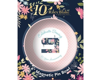 Magnetic Pin Bowl - Riley Blake Designs 10th Anniversary - Sewing Machine Pin Bowl