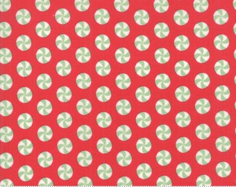 Sweet Christmas - Peppermint Polka Dot - Peppermint (31154 12)Urban Chiks Sweet Christmas Moda - Quilting Fabric - Cut Options Available