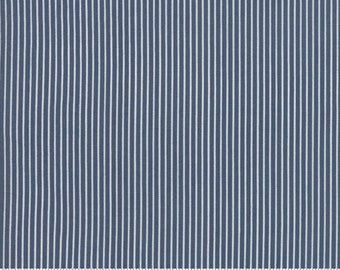 Sweet Tea Stripe in Navy by Sweetwater for Moda Fabrics - (5726-15)