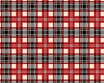 Christmas Memories Red Plaid by Riley Blake Designs - Christmas Fabric - Cut Options Available (C8698-RED)