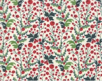 Kringle Claus - Holly Berry - Snow - (30593 11) - BasicGrey Kringle Claus for Moda Fabrics -  Cotton Quilting Fabric - Kringle Klaus