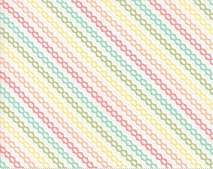 Strawberry Jam Multi Summer Stripe by Corey Yoder (Little Miss Shabby) for Moda (29066 11)