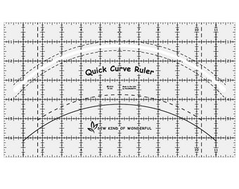 "Quick Curve Ruler - Sew Kind of Wonderful - Quilting Tool - 7"" x 12"""