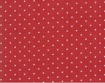 Sweet Tea Dot in Red by Sweetwater for Moda Fabrics - (5723-18)