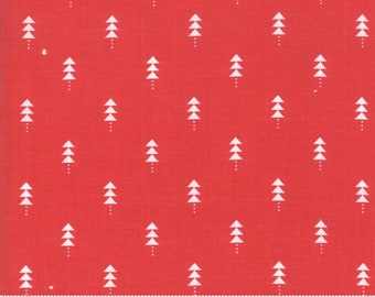 Little Tree by Lella Boutique - Little Trees - Cranberry (5094 13)  Lella Boutique Little Tree for Moda Fabrics - Christmas Fabric