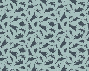 Fossil Rim 2 Blue Tiny Dino by Deena Rutter for Riley Blake Designs (C8872-BLUE) - Dinosaur Fabric - Cut Options Available