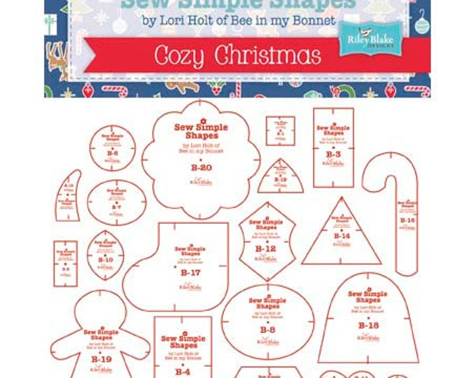 Sew Simple Christmas Shapes by Lori Holt of Bee In My Bonnet Template Rulers (STTEMPLATE-2893)