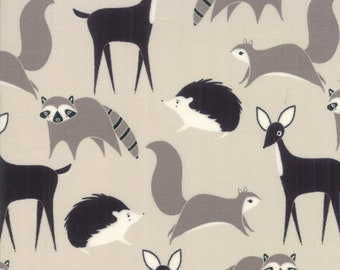 Bramble Stone Forest Friends by Gingiber for Moda Fabrics (48282 14) - Animal Fabric