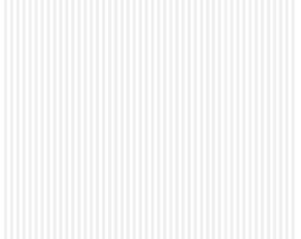 Riley Blake Designs, Tone-on-Tone 1/8 inch Stripe White (C225-White)