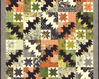 Night Flight Quilt Kit by BasicGray for Moda Fabrics, Featuring Hallo Harvest (KIT 30600) - Halloween Quilt Kit - BasicGray - PREORDER