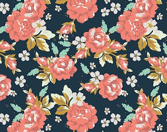 Golden Days Navy Main by Fancy Pants Design for Riley Blake Designs (C8600-NAVY) - Cut Options Available