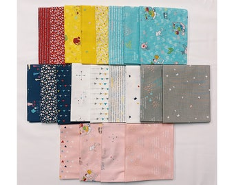 Dear Diary Fat Quarter Bundle SALE by Minki Kim (FQ-6670-21) - Minki Kim Dear Diary FQ Bundle