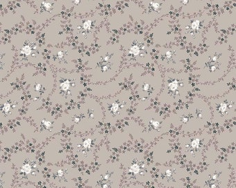 Serenity Taupe Rose Bouquet by Gerri Robinson for Riley Blake Designs (C8813-TAUPE) - Cut Options Available