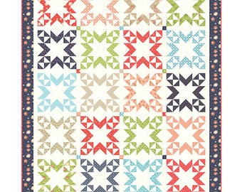 Summer Shores Quilt Pattern  by A Quilting Life Designs (Sheri McConnell) using Harpers Garden fabric (QLD 179)