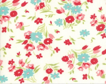 Little Snippets Cream Fresh Cut Floral by Bonnie & Camille for Moda Fabrics (55182 15)