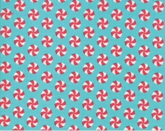 Sweet Christmas - Peppermint Polka Dot - Coolmint (31154 15)Urban Chiks Sweet Christmas Moda - Quilting Fabric - Cut Options Available