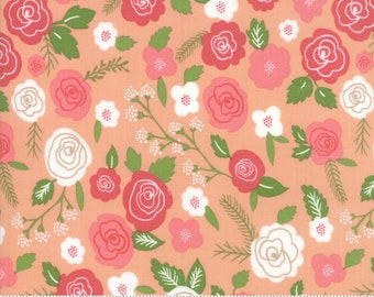 "Lollipop Garden Springtime Blooms - Tangerine - Lollipop Garden by Lella Boutique - (5080 18) - 31"" remnant"