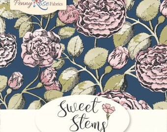 """Sweet Stems Charm Pack - Sweet Stems 5"""" Stackers - Sue Daley Designs -  - Sue Daley Sweet Stems for Penny Rose Fabrics - Quilting Cotton"""